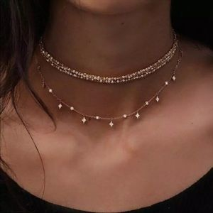 Jewelry - • Quinn • Layered Stardust Choker